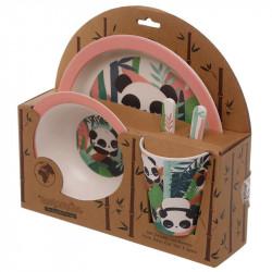 Set de masa pentru copii Bambus Panda 3