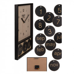 Ceas de perete din lemn cu calendar 1