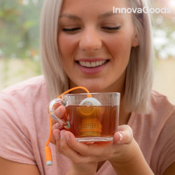 infuzor de ceai scafandru gri in cana
