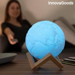 Lampa Glob Pamantesc 3D in culori albastru