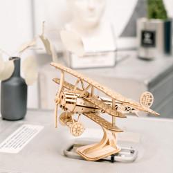 Puzzle 3D din lemn Avion pe masa