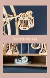 Puzzle 3D din lemn cutie muzicala Ferris Wheel detalii