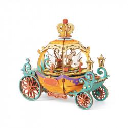 Puzzle 3D din lemn Cutie muzicala Pumpkin Carriage