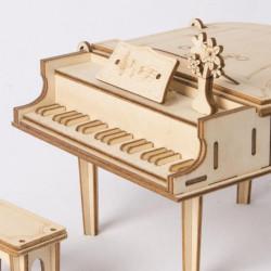 detaliu Puzzle 3D din lemn Pian inchis