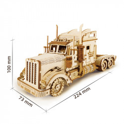 Puzzle 3D lemn Camion dimensiuni