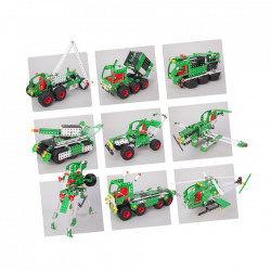 Set constructie Camion 10 in 1 Pro, 867 piese variante modele