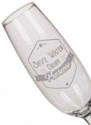 Pahar pentru prosecco urias din sticla
