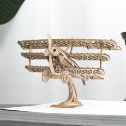 Puzzle 3D din lemn Avion pe birou