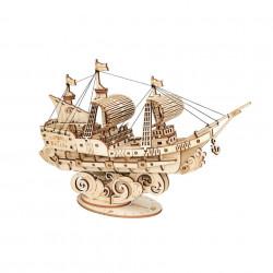 Puzzle 3D din lemn Corabie cu panze