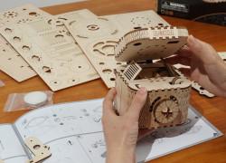 puzzle 3d din lemn cutie comori 3