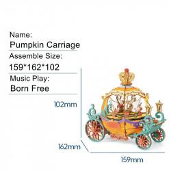puzzle 3d din lemn cutie muzicala trasura dimensiuni