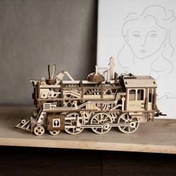 puzzle 3d din lemn locomotiva