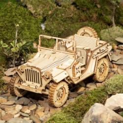 puzzle 3d din lemn masina militara 3