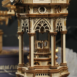 Puzzle 3D lemn Cutie muzicala Lampa victoriana detaliu