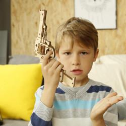 Puzzle 3D lemn Pistol 2