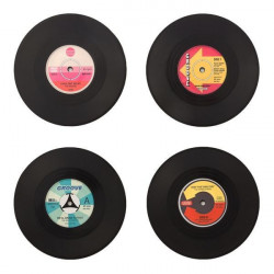 Suporturi pentru pahar Disc Retro set de 4 1