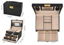 dimensiuni cutie bijuterii cu doua sertare si cheita