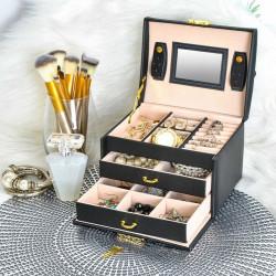 Cutie bijuterii cu doua sertare si cheita