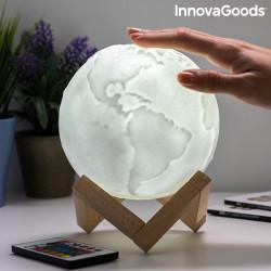 Lampa Glob Pamantesc 3D in culori senzor atingere