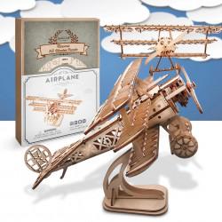 Puzzle 3D din lemn Avion si cutie