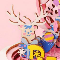 Ren Puzzle 3D din lemn cutie muzicala For my Dear