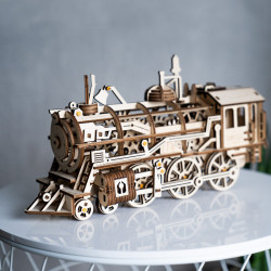 puzzle 3d din lemn locomotiva 2