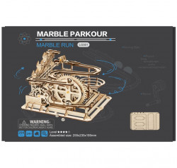 puzzle 3d din lemn marble parkour in cutie