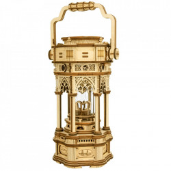 Puzzle 3D lemn Cutie muzicala Lampa victoriana