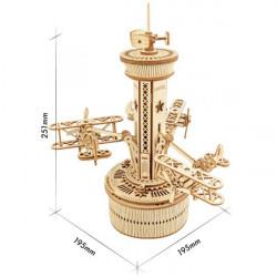 Puzzle 3D lemn Turn de control dimensiuni