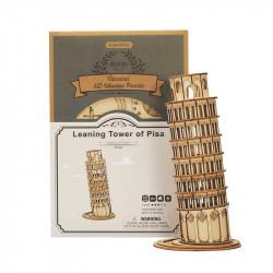 Puzzle 3D lemn Turnul din Pisa si cutia