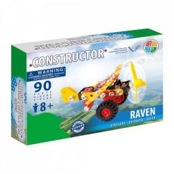 Set constructie Avion Raven, 90 piese in cutie