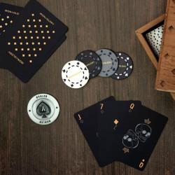 Set poker Deluxe carti negre