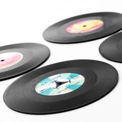 Suporturi pentru pahar Disc Retro set de 4 2