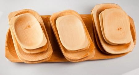 Poze Platou lemn cu farfuri