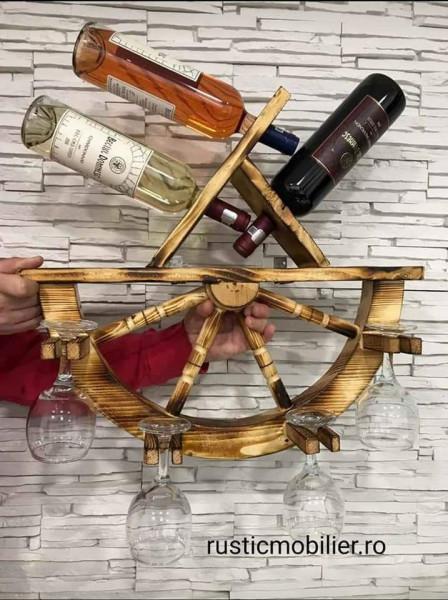 Poze Suport vin din Roata lemn