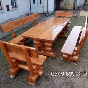Set masa 2 bancute 2 scaune
