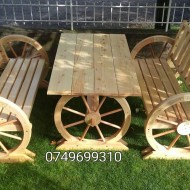 Set Rustic Roata de Car