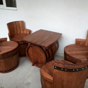 Set mobilier masiv din stejar