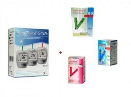 Poze EasyTouch GCH + 50 teste glicemie + 10 colesterol + 25 hemoglobina