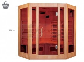 Poze QMED QMSA3C - Sauna cu infrarosu de interior cu 3 sectiuni - coltar