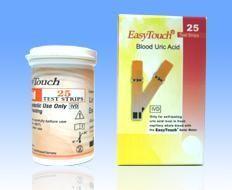 3 x EASYTOUCH - Teste acid uric 25's, 75 teste