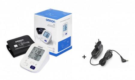 OMRON M3 (seria 2021) - tensiometru digital, automat, de brat, INTELLISENSE, cu adaptor de priza inclus