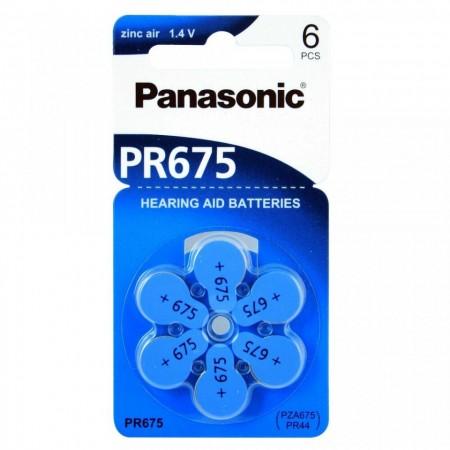 Poze PANASONIC PR675 - baterii ZincAir 1.4V, 6buc