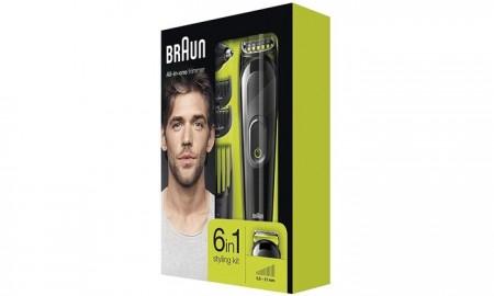 Poze BRAUN MGK3021, aparat de tuns multifunctional 6in1, 4 piepteni, 13lungimi, piese pentru nas si urechi, negru