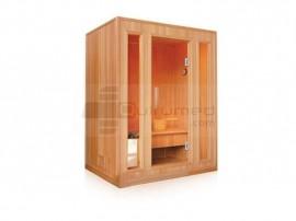 Poze QMED 535-E3 - Sauna cu aburi de interior din 3 corpuri, cu geamuri
