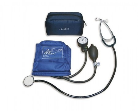 Poze Tensiometru aneroid profesional, MICROLIFE BP AG1-30, cu stetoscop si manometru