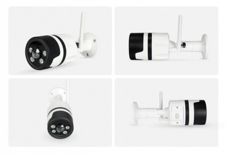 Poze SECTEC IL-HIP316-2M-C Camera WIFI, 1080P, 2MP, stocare in cloud, cu IR, de exterior, waterproof, TF, microfon