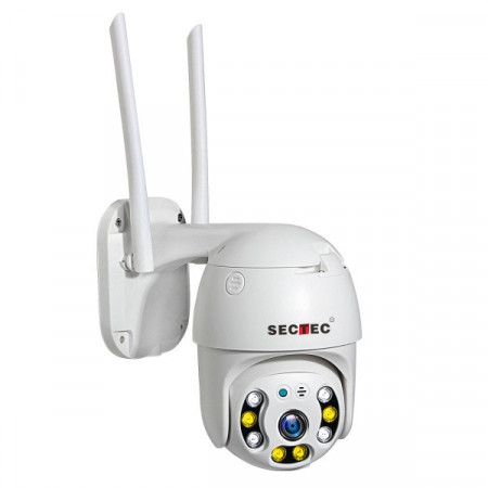 ST-493-2MDL Camera supraveghere Pan/Tilt, WIFI, 2M/1080p, stocare in cloud sau pe card, 4 LED IR + 4 x LED alb