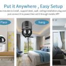 SECTEC ST-891-2M-AI Camera WIFI, 1080P, 2MP, Pan/Tilt, stocare in cloud / TF, microfon