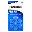 PANASONIC PR675 - baterii ZincAir 1.4V, 6buc
